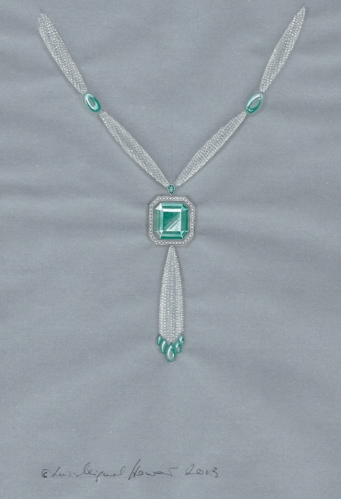 Tourmaline-and-Seed-Pearl-necklace